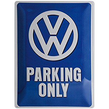 VW PARKING SIGN