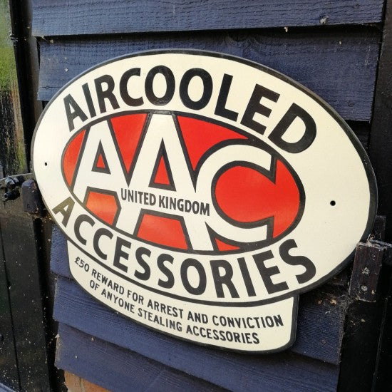 AAC ENAMEL SIGN