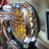 AMBER SPOT LIGHT WITH VINTAGE GRILL - 6""