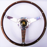 WOLFSBURG POLISHED STEERING WHEEL - LATE BAY WINDOW BUS - NO CUT OUTS