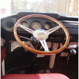 WOLFSBURG POLISHED STEERING WHEEL - EARLY BAY WINDOW BUS