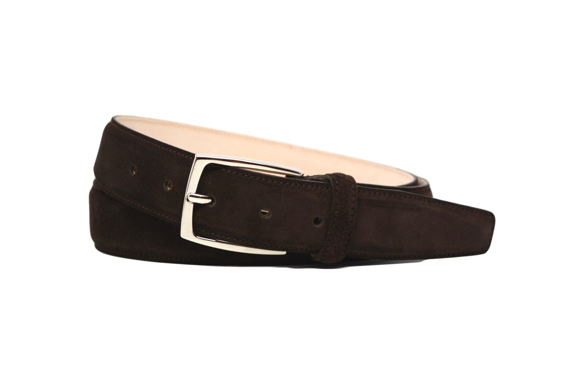 MATCHING BELT - BROWN SUEDE