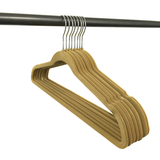 Ultra Thin No Slip Velvet Hangers, Camel, Set of 10