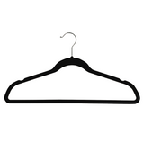 Ultra Thin No Slip Velvet Suit Hangers, Black, Set of 25