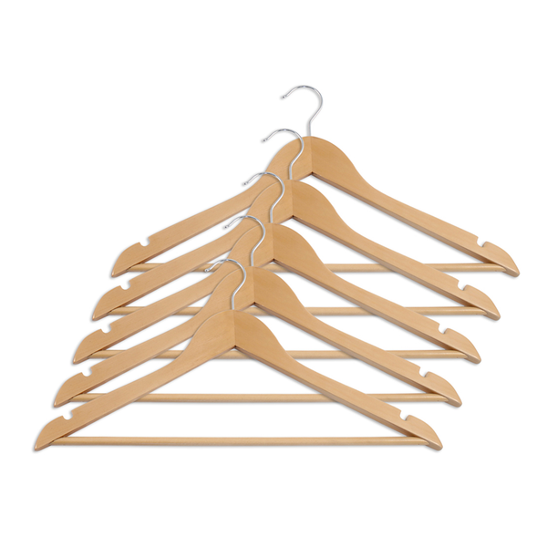 natural wood hangers for closet