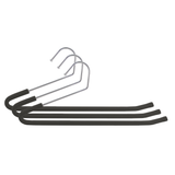 Foam-Coated Chrome Non-Slip Pants Hangers, Black, Set of 3
