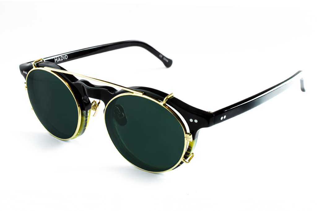 Hadid Eyewear | Captain Sunglasses | Horn & Black - Hadid Eyewear
