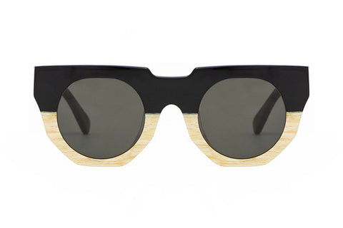 Hadid Eyewear | Artist Sunglasses | Black and Cream (New) - Hadid Eyewear