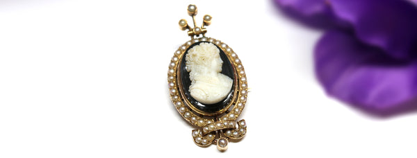 Meet The Hester: A Unique Victorian Cameo Mourning Pin