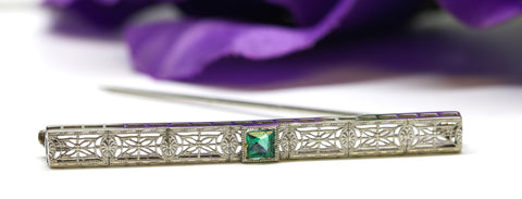 Vintage Filigree Bar Pin