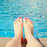 Poolside Photo Of Feet