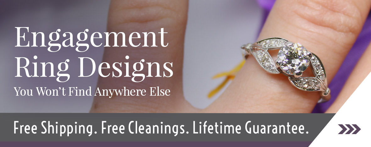 Antique engagement rings, vintage engagement rings online, estate engagement rings