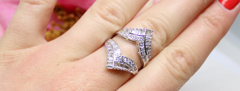 Platinum And Diamond Guard ring