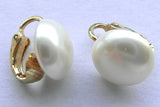 Retro Clip On Pearl Earrings