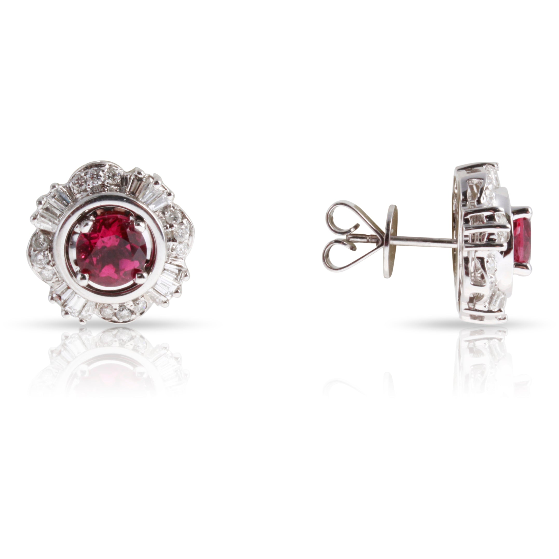 Pink Tourmaline Earrings With Diamond Jackets | The Jaclyn