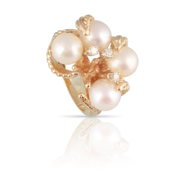 1960's Pearl Ring | The Annette