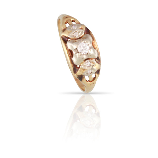 Retro Era Five Stone Diamond Ring | The Aubrey