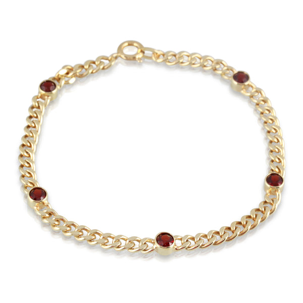 Garnet and Gold Bracelet | The Callum
