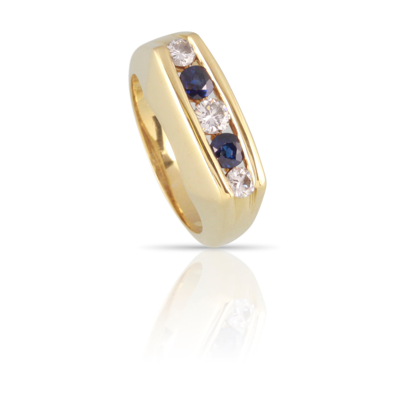 Kurt Wayne Sapphire and Diamond 5-Stone Ring | The Kurt