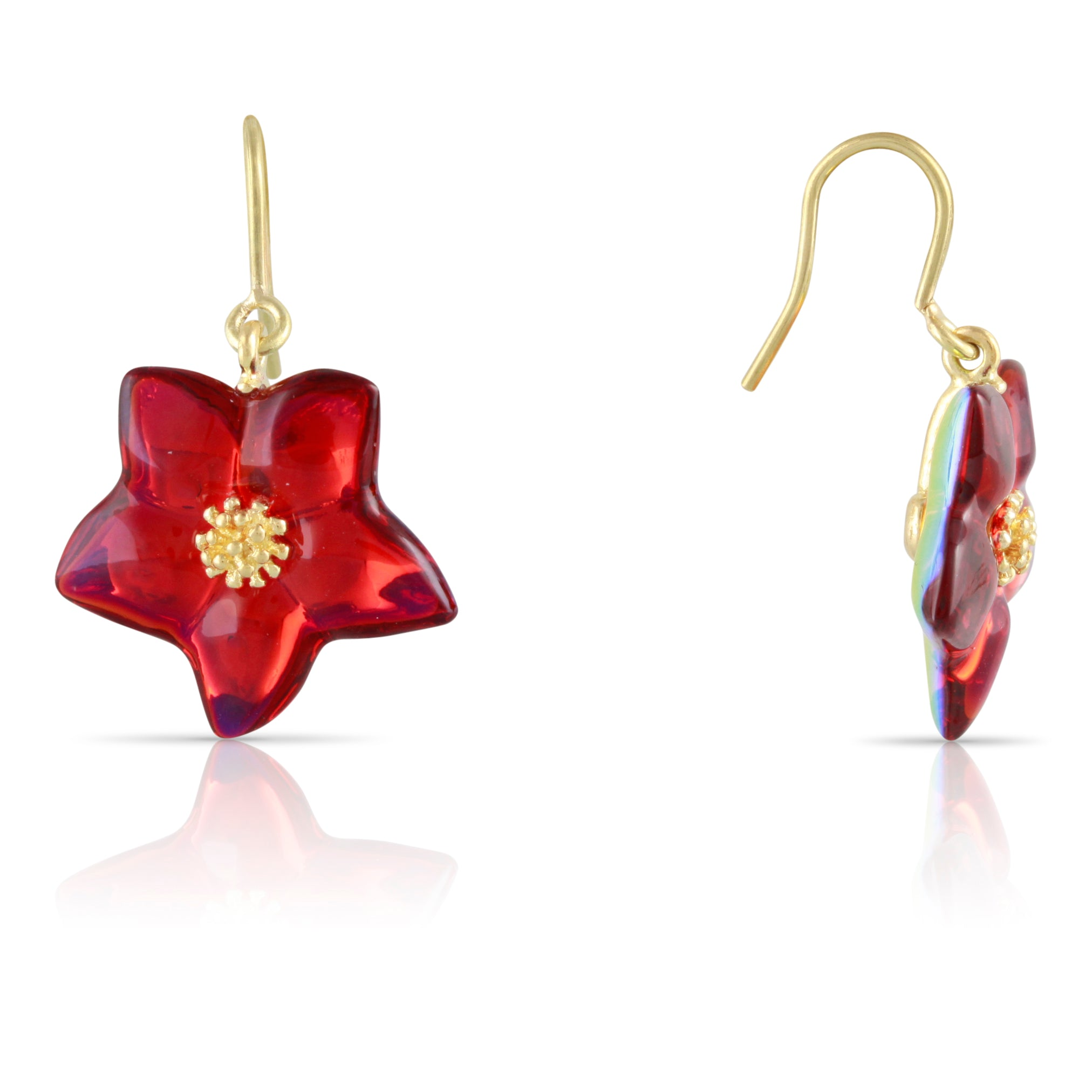 Baccarat Crystal Flower Drop Earrings | The Ballia