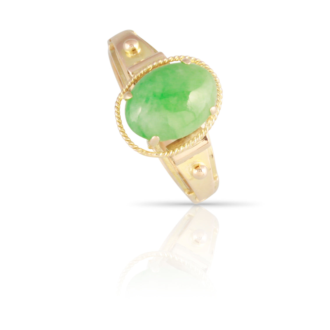 Mid-century Modern Jade Ring | The Beulah