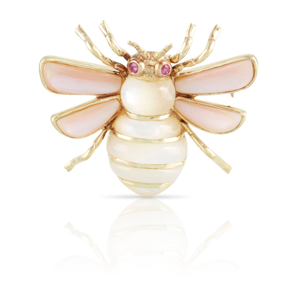 Mother of Pearl Bee Pin | The Jane
