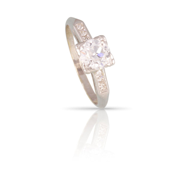 Retro Era Diamond Engagement Ring | The Maree