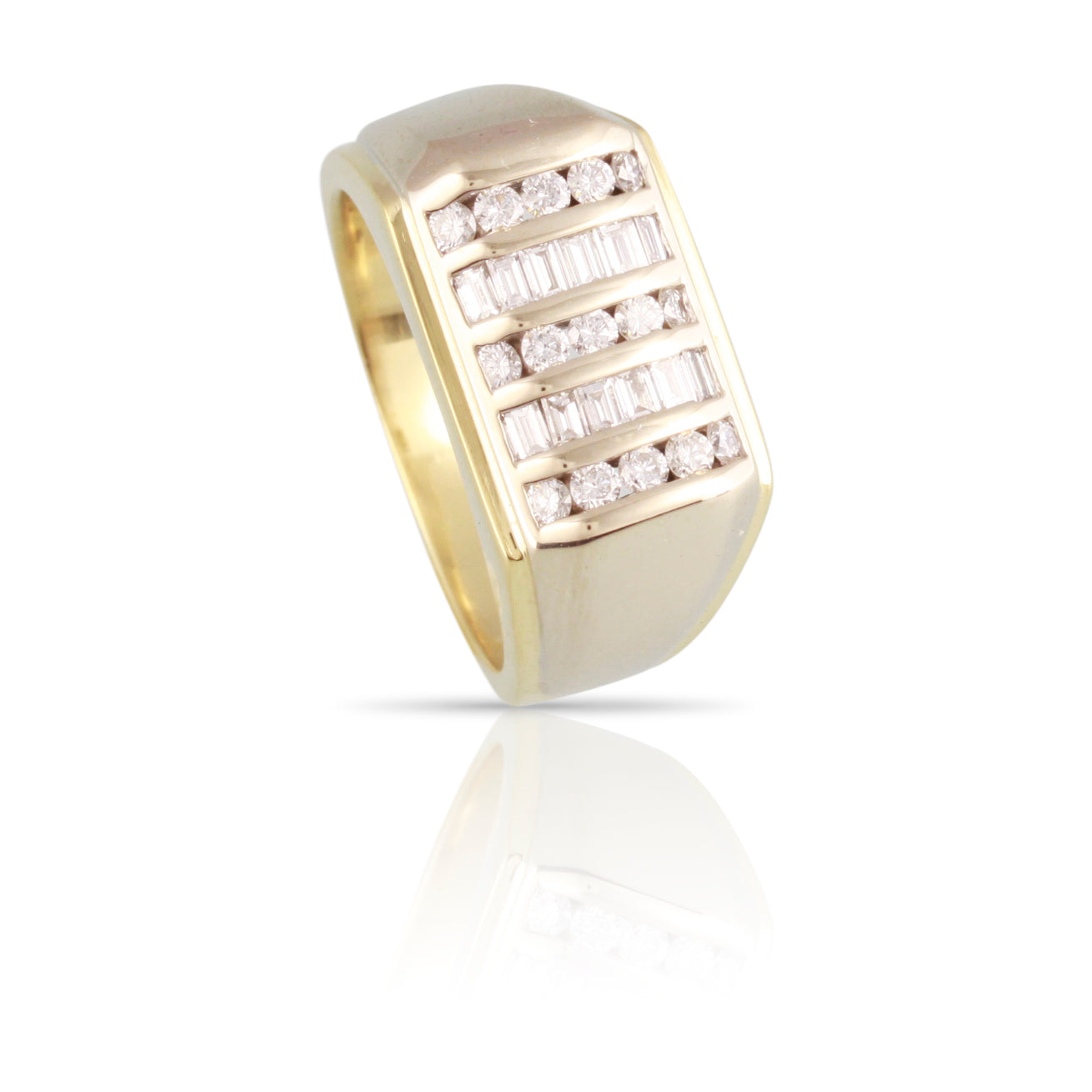 Baguette and Round Diamond Band | The Ronan