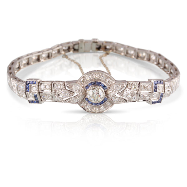 Art Deco Diamond and Sapphire Bracelet | The Juliet