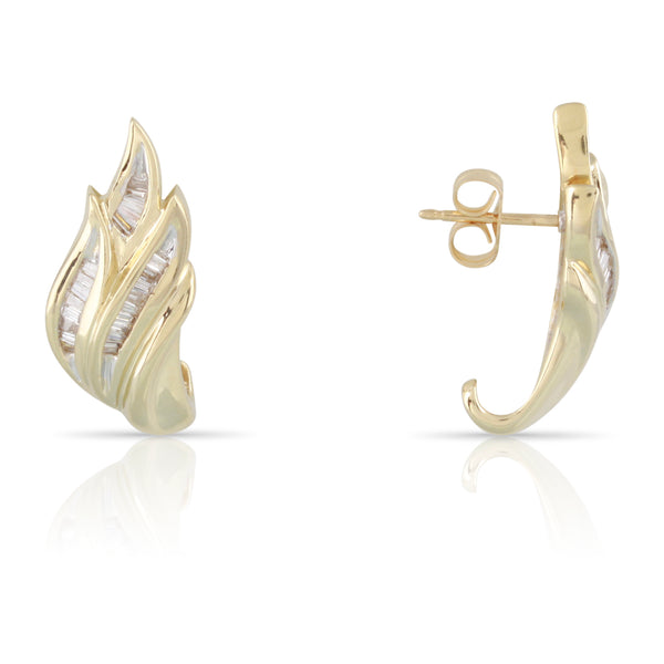 Baguette Diamond Earrings | The Walter