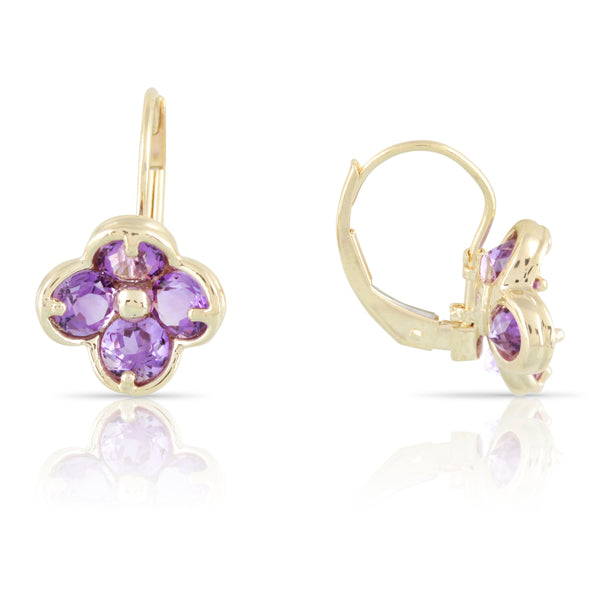 Amethyst Floral Earrings | The Cecil