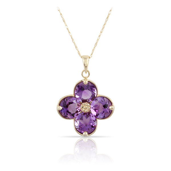 Amethyst Floral Pendant | The Jude