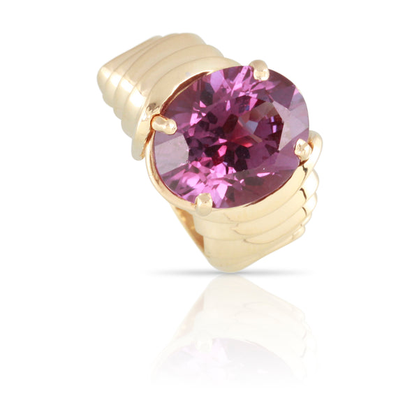 Yellow Gold and Purple Sapphire Ring | The Payton