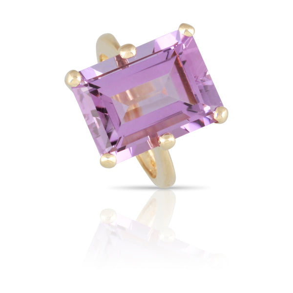 Amethyst Solitaire Ring | The Alfred