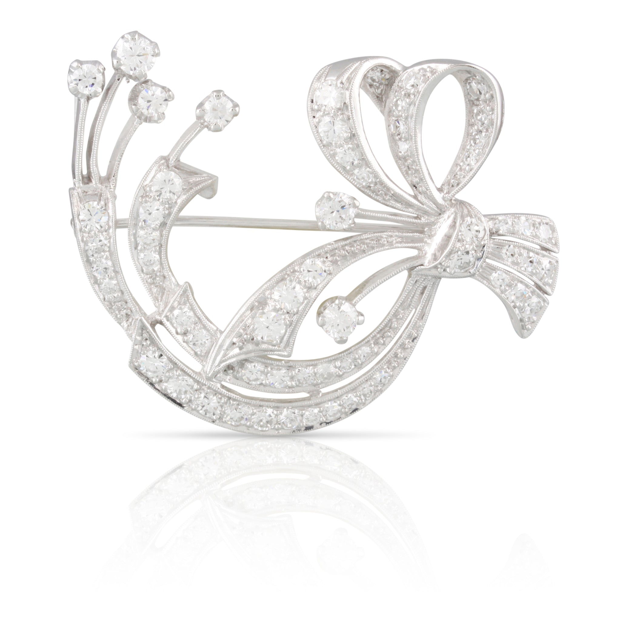 Diamond Bow Brooch | The Kai