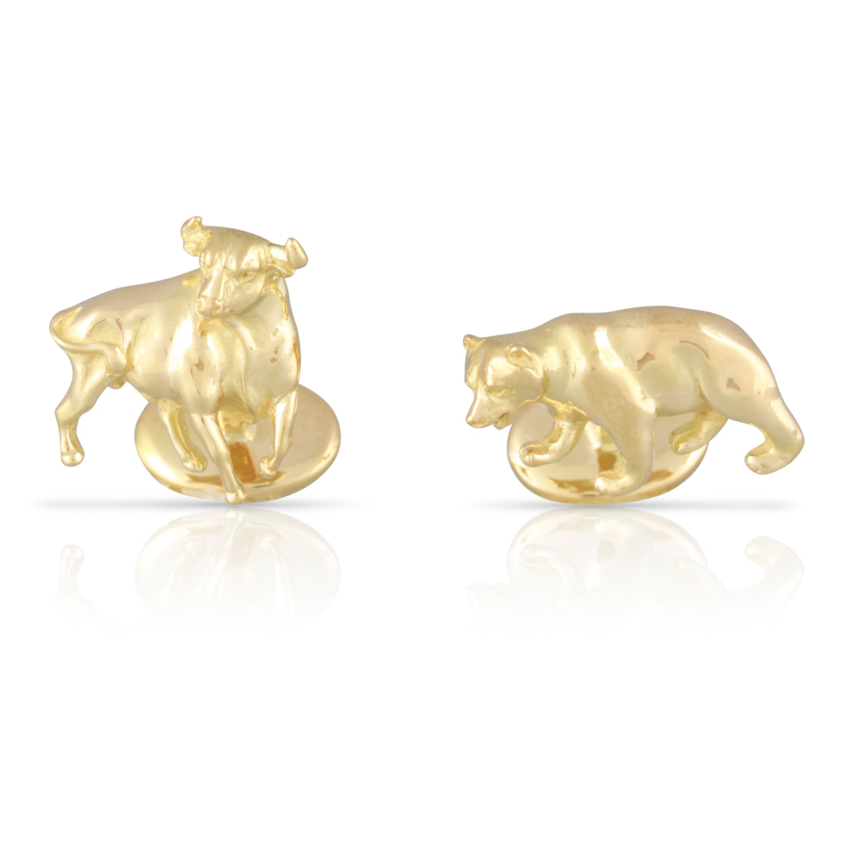 c5e13afea Tiffany & Co. Gold Bull and Bear Cufflinks | The Finn – Atique