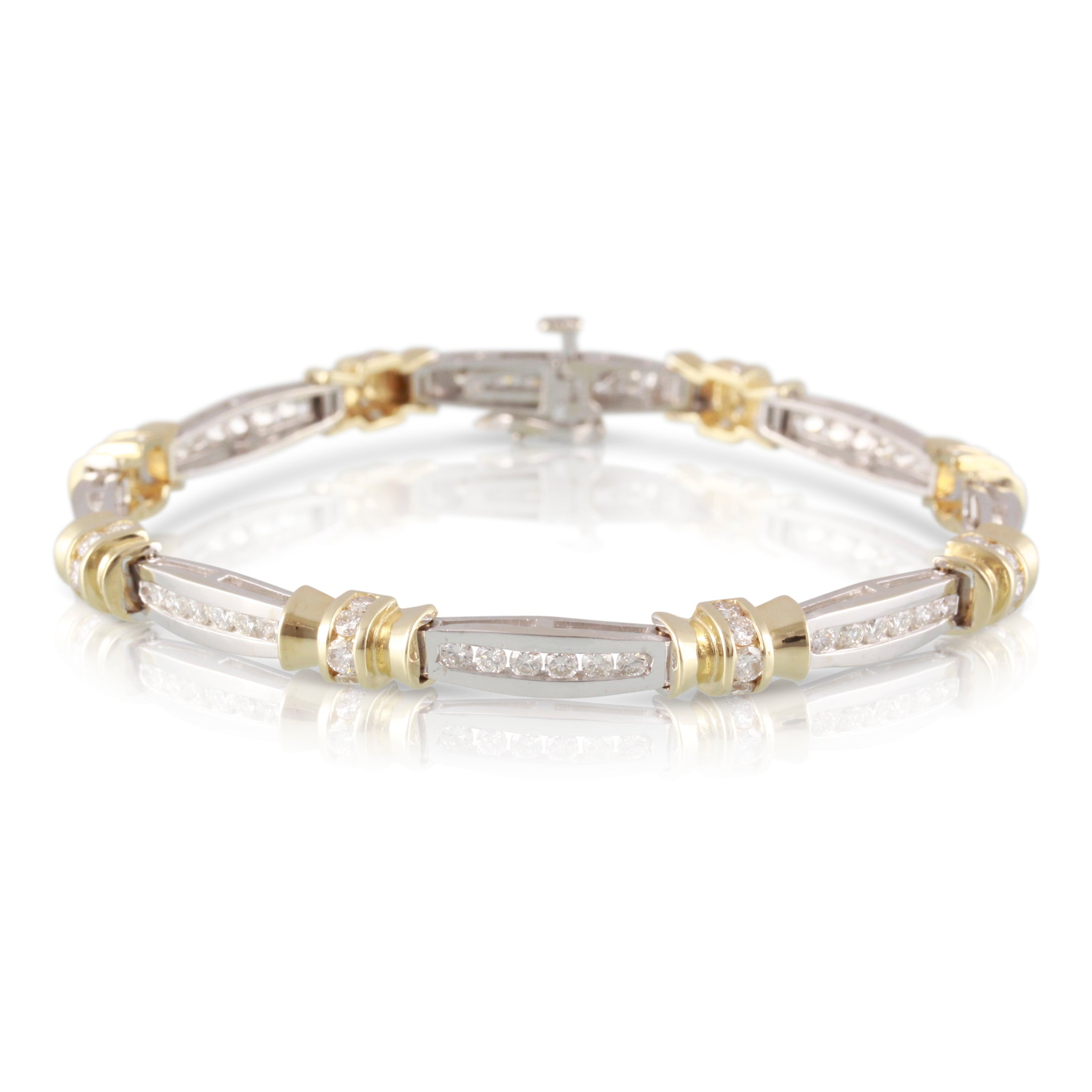Two Tone Gold and Diamond Bracelet | The Nathaniel