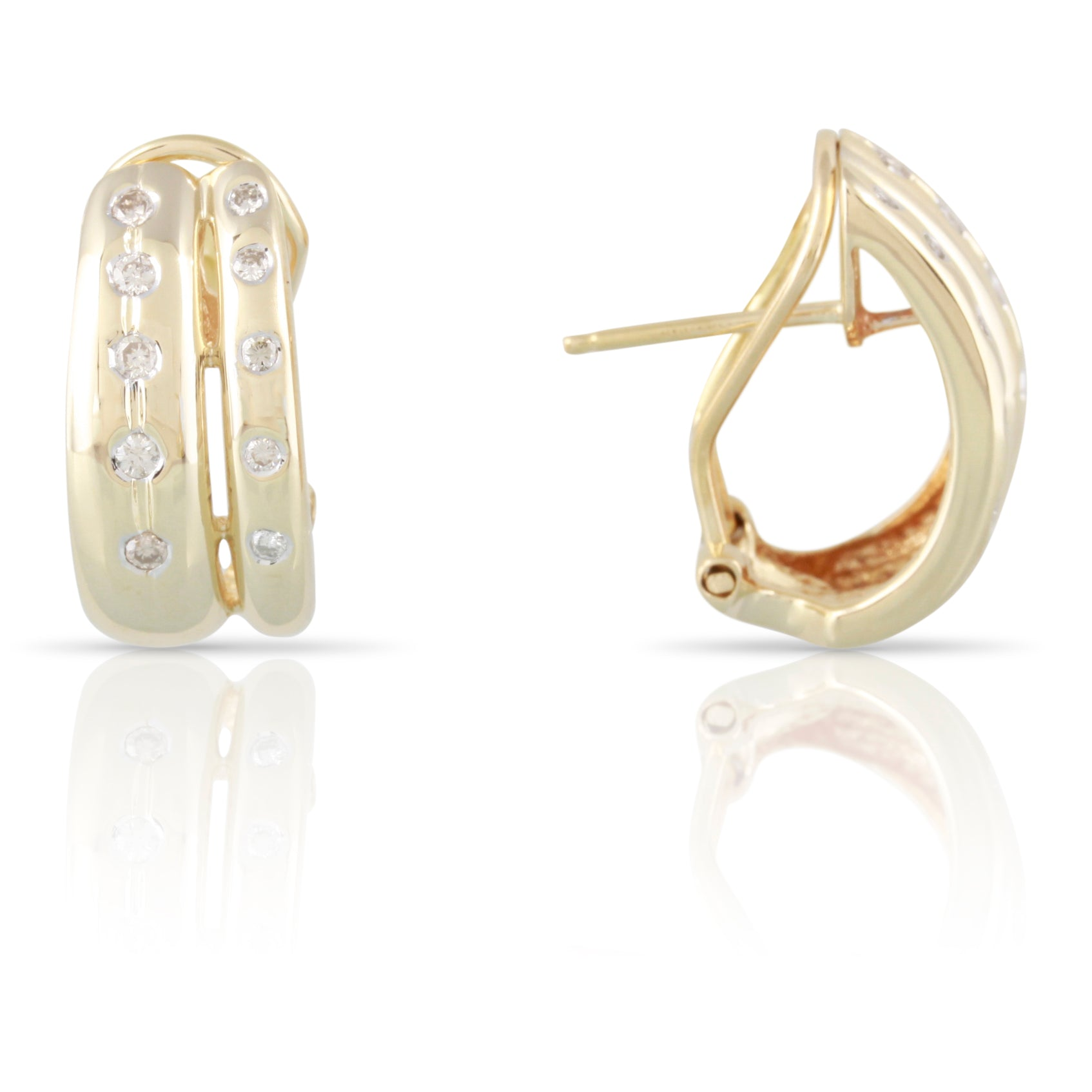 Diamond and Gold Hoop Earrings | The Hudson
