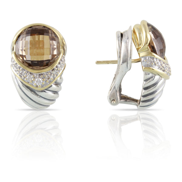 David Yurman Citrine and Diamond Earrings | The Augustus