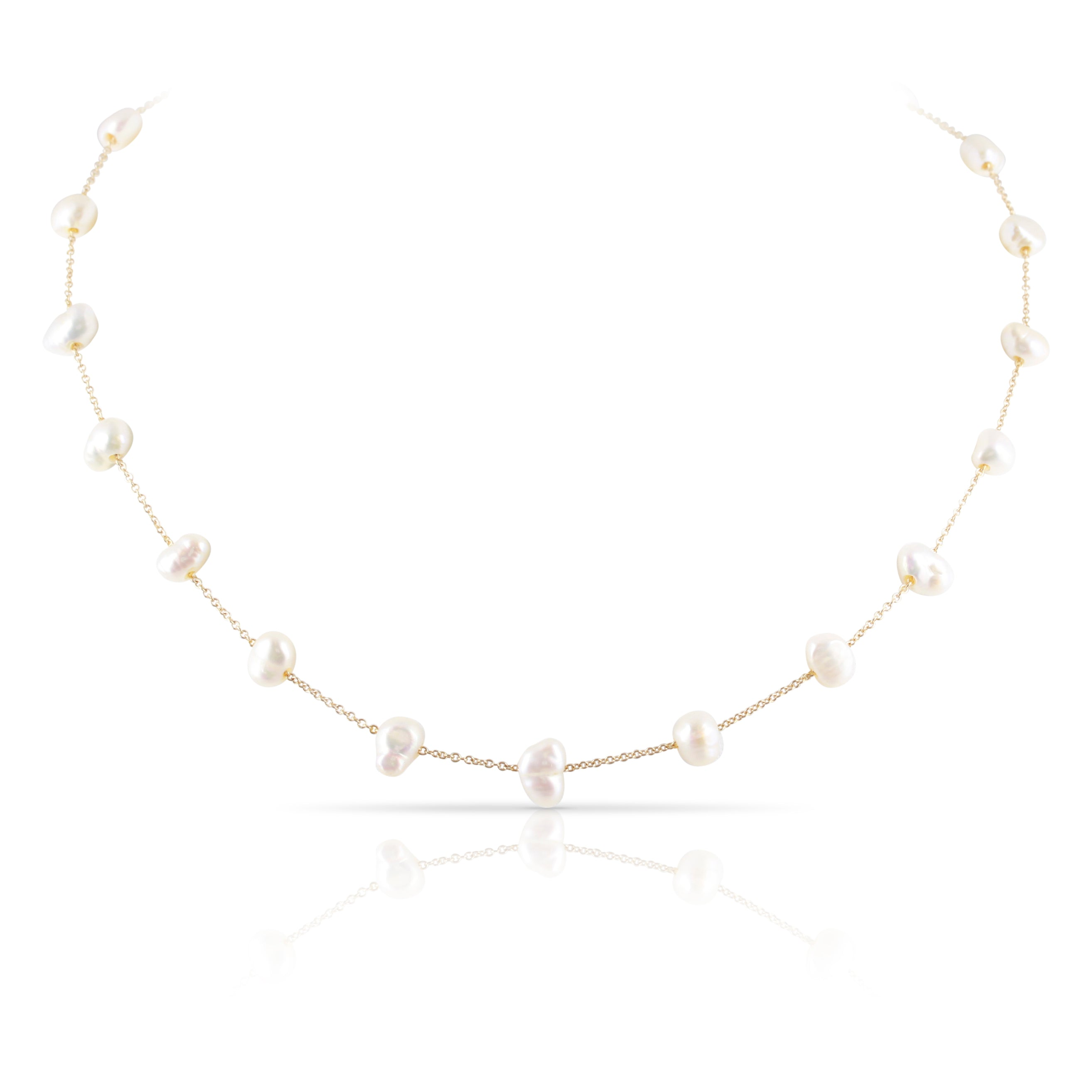Baroque Pearl Station Necklace | The Griffin