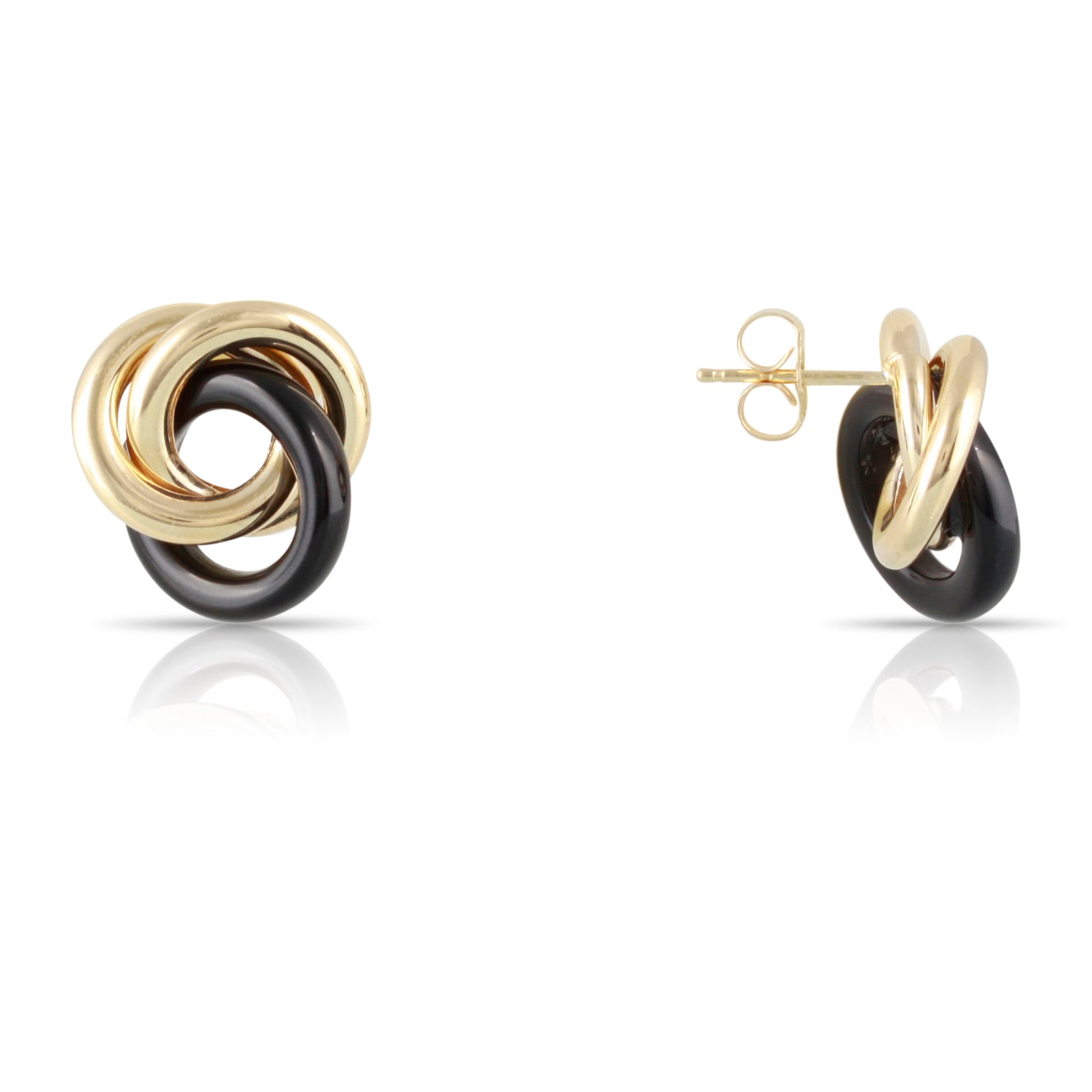 Black Onyx Knot Earrings | The David
