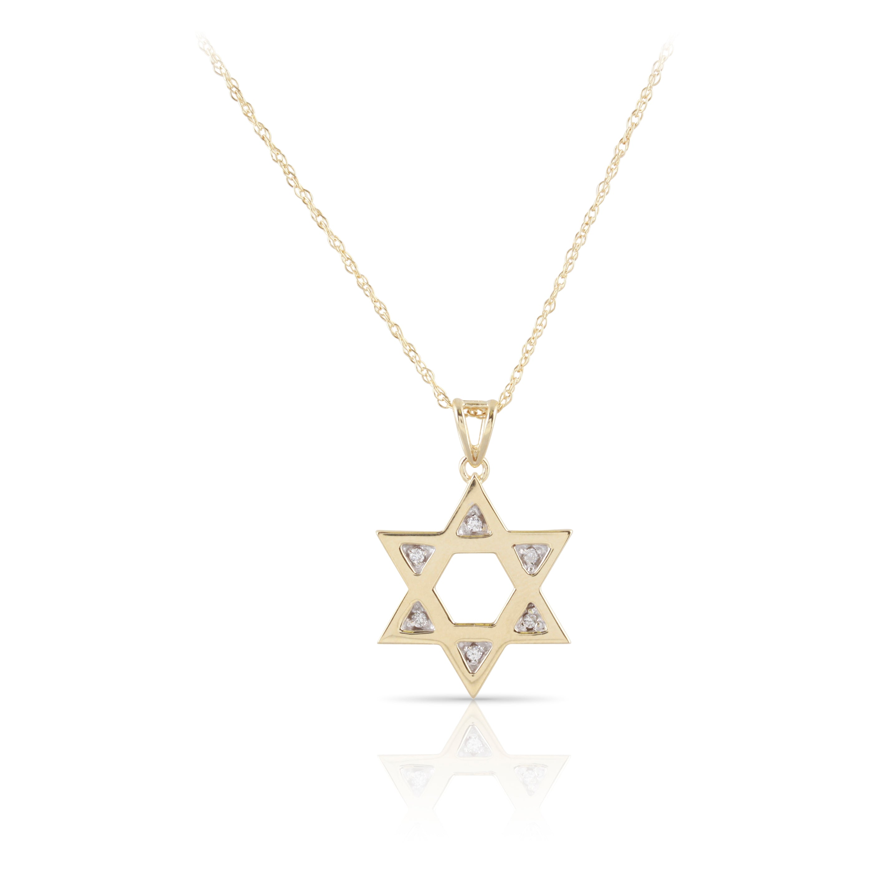 Diamond Star of David Pendant | The Ellie
