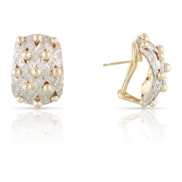 Diamond and Gold Earrings | The Eliana
