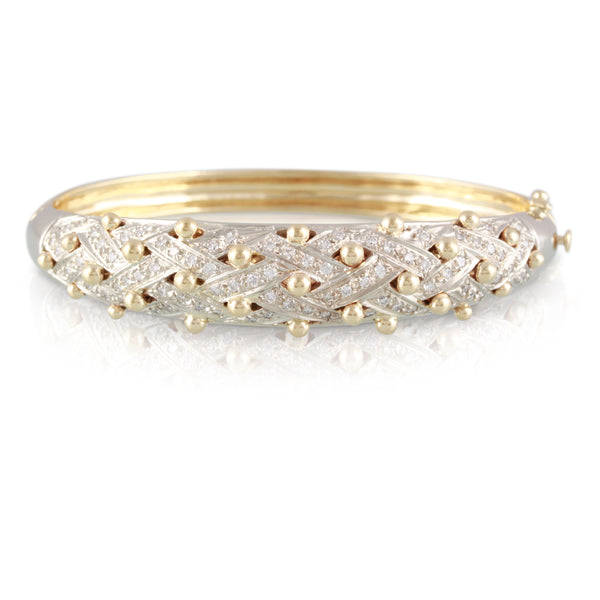 Diamond and Gold Bracelet | The Rebecca