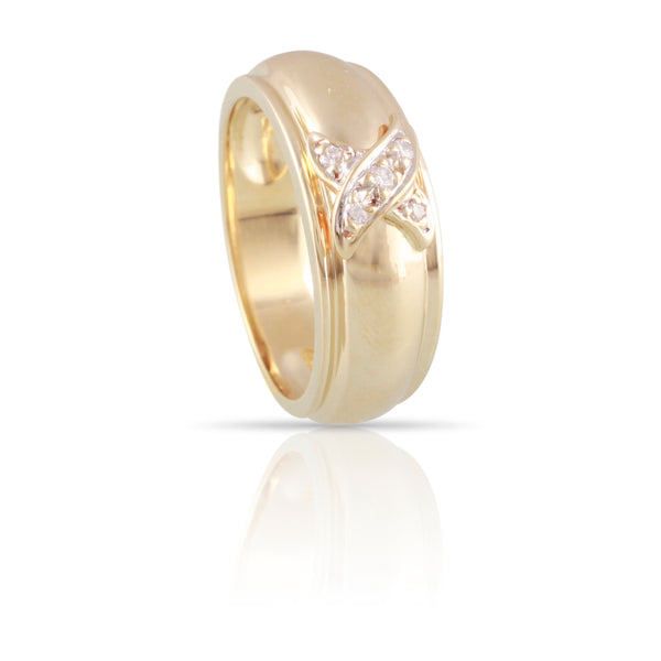 Diamond and Yellow Gold Ring | The Evie