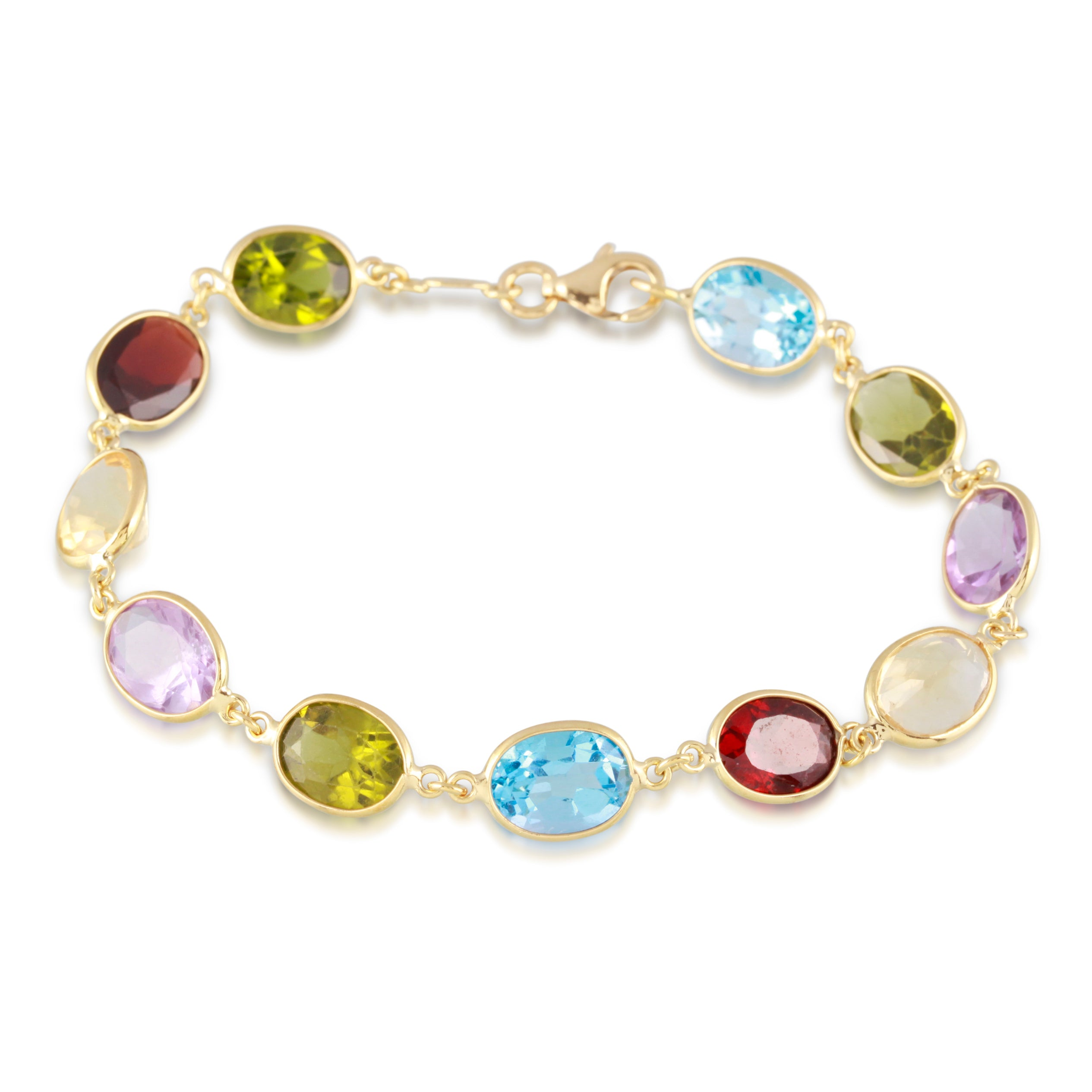 Multicolor Gemstone Bracelet | The Isabelle