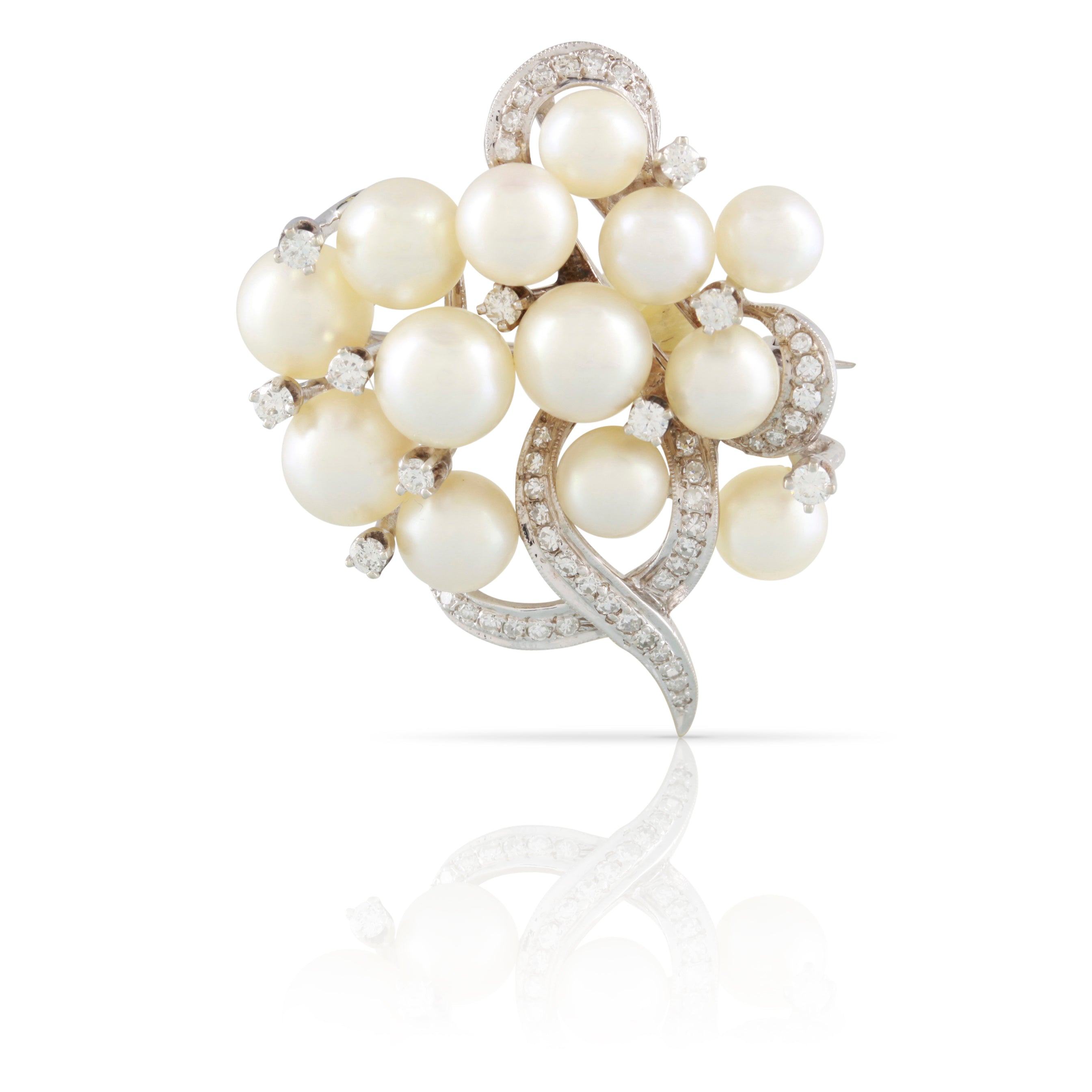 Vintage Pearl and Diamond Brooch | The Rosalie