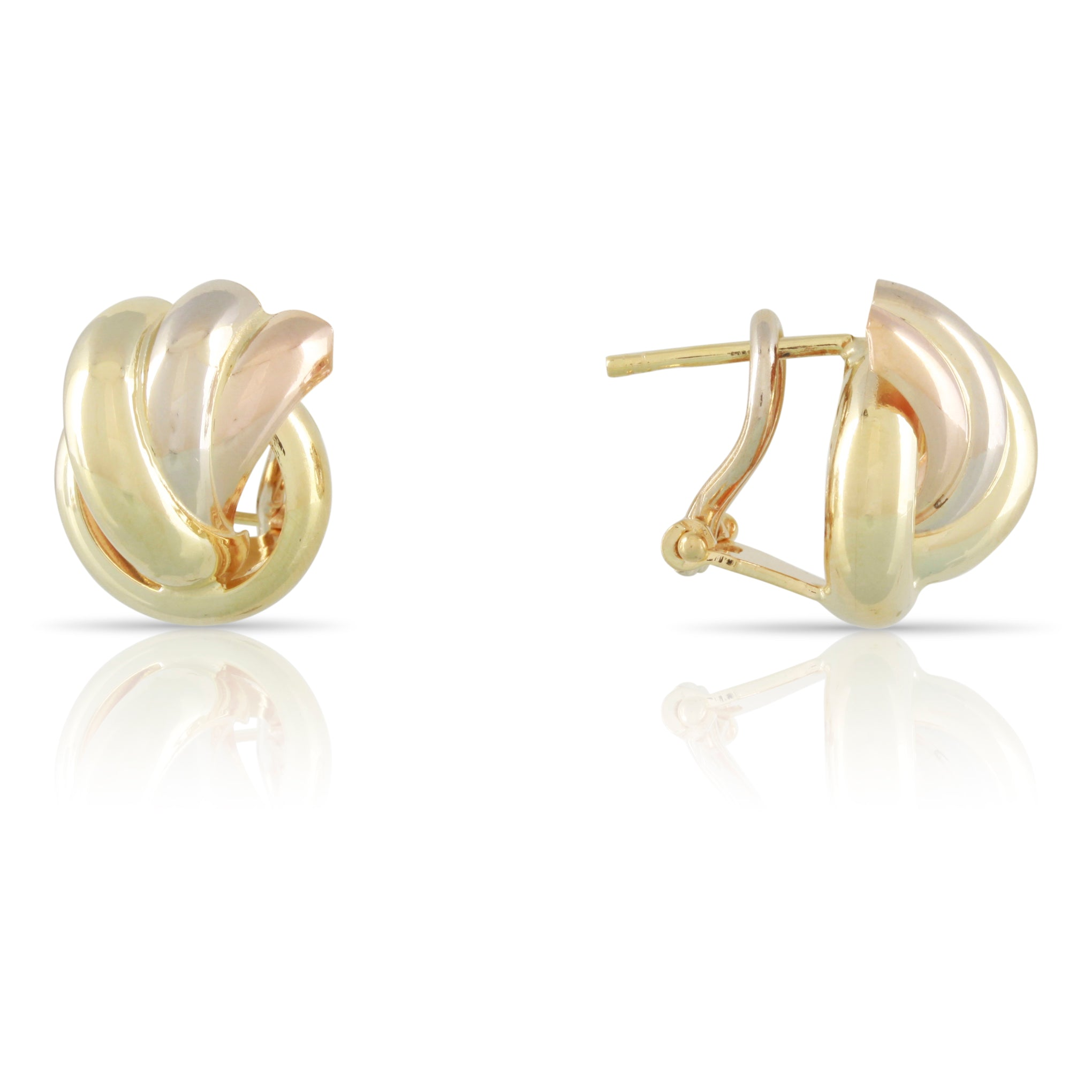 Tri-Tone Gold Earrings | The Felicity