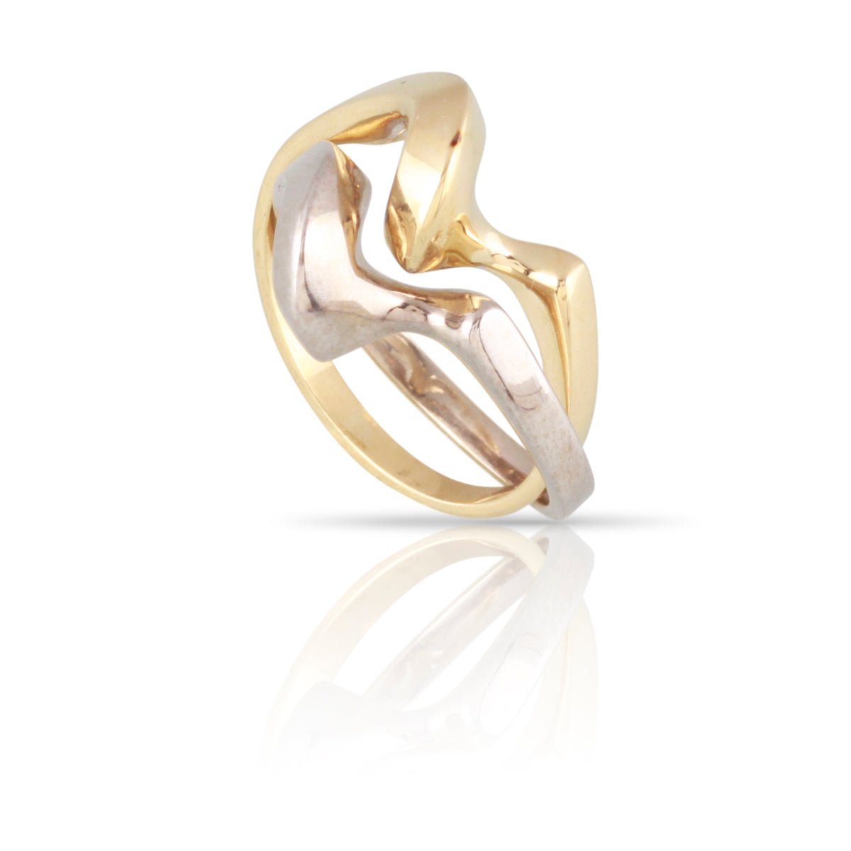 Two-Tone Gold Interlocking Ring | The Sophie