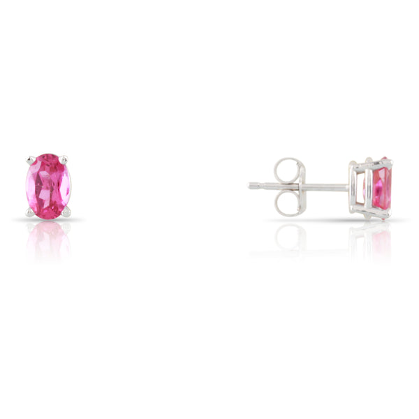 Pink Tourmaline Stud Earrings | The Louise